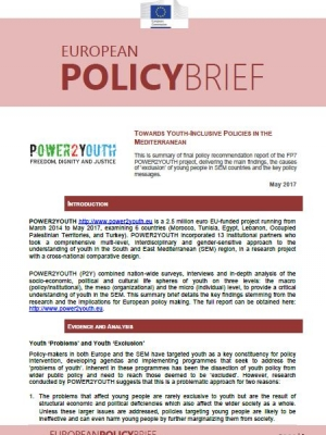Policy Brief n.2: Towards Youth-Inclusive Policies in the Mediterranean
