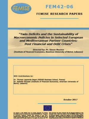 FEMISE research paper: Twin Deficits and the Sustainability of Macroeconomic Policies in Selected European and Mediterranean Partner Countries