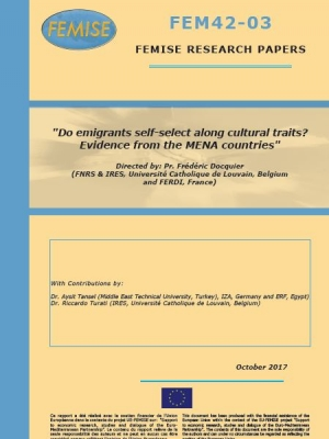 Femise research paper: Do emigrants self-select along cultural traits? Evidence from the MENA countries