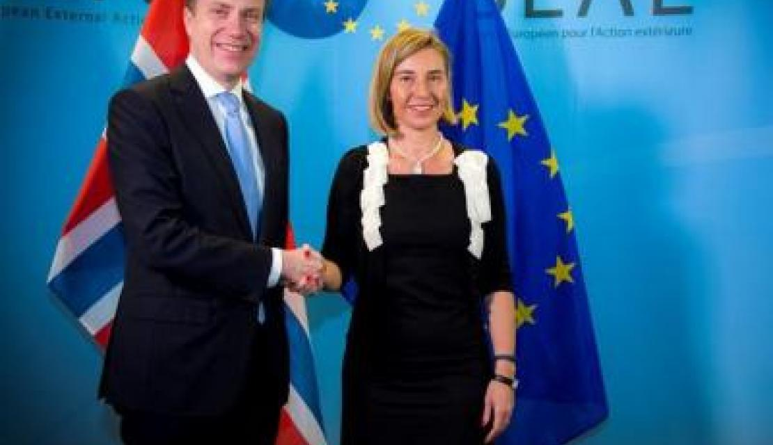 Mogherini and Norwegian FM