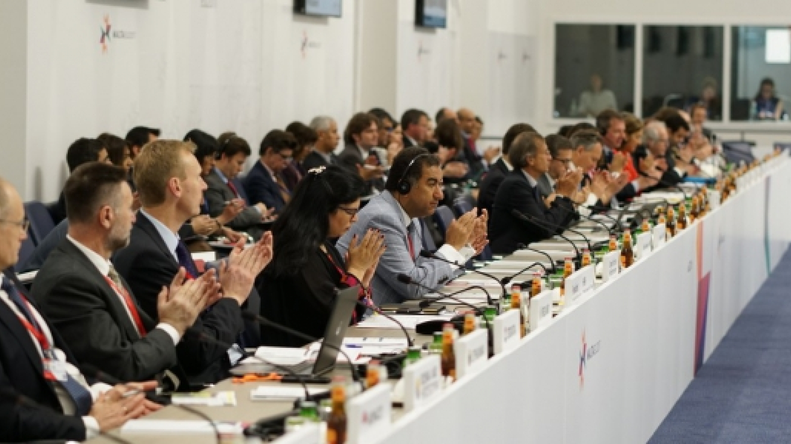 Ministers from the UfM meeting in Malta on 4 May