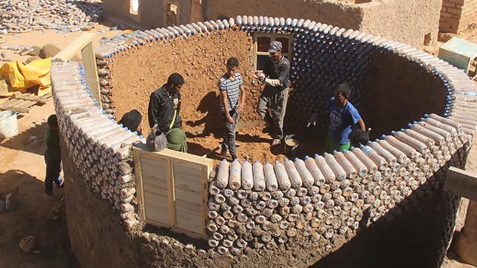 Building bottled homes for refugees in south-west Algeria: a story from an Erasmus Mundus graduate