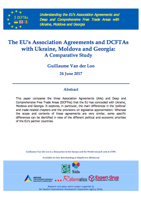 The EU's Association Agreements and DCFTAs with Ukraine, Moldova and Georgia: A Comparative Study