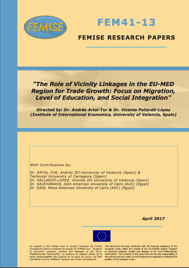 The role of vicinity linkages in the Euro-Med region for