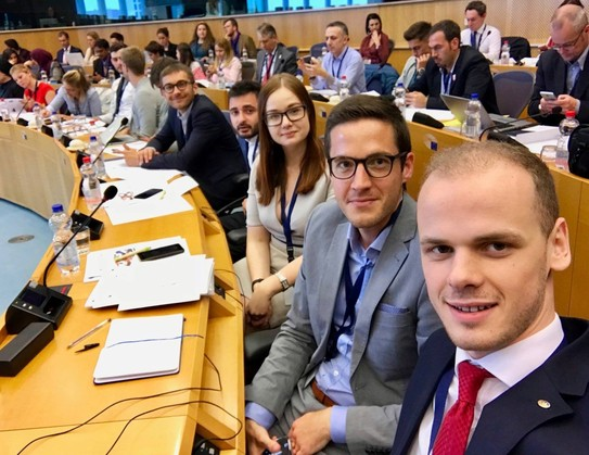 YEAs at conference in Brussels