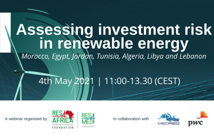 RES4Africa-MEDREG Webinar to assess investment risk in renewable energy