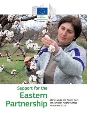 Cover of Support for the Eastern Partnership - Stories, facts and figures from the European Neighbourhood Instrument 2014
