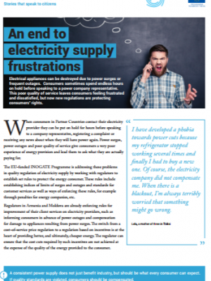 INOGATE success story - an end to electricity supply frustrations
