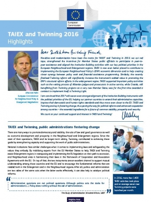 TAIEX and Twinning – Highlights 2016