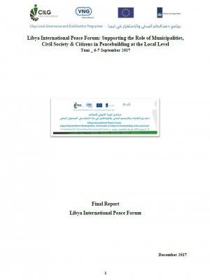 Libya International Peace Forum final report
