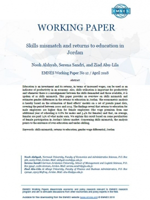 EMNES Working Paper 12: Skills mismatch and returns to education in Jordan