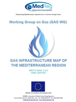 MEDREG report : Gas infrastructure map of the Mediterranean region