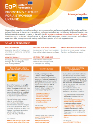 Promoting culture for a stronger Ukraine – factsheet