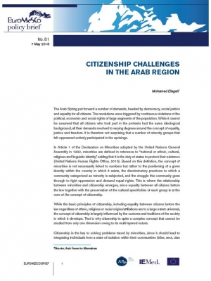 Euromesco Policy Brief – Citizenship challenges in the Arab region