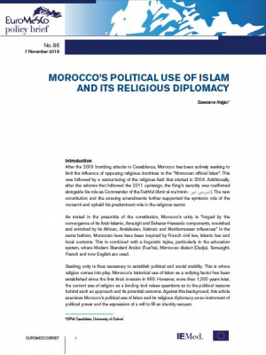 EuroMesco policy brief n°86 – Morocco's political use of islam and its religious diplomacy