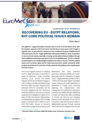 Euromesco Spot-On n°8 : Recovering EU-Egypt relations, but core political issues remain