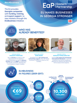 EU makes businesses in Georgia stronger - EU4Business factsheet