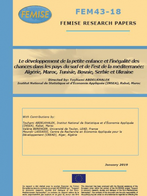 FEMISE Research paper 43-18: Early childhood development and inequality of opportunities in the Mediterranean
