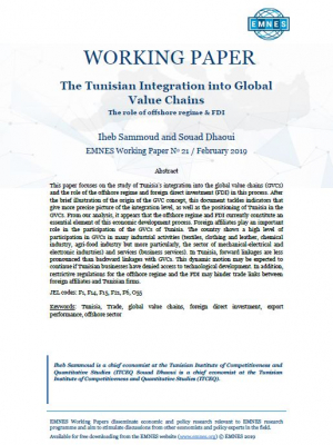 EMNES Working Paper 21 - The Tunisian Integration into Global Value Chains: The role of offshore regime & FDI