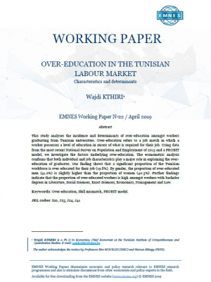EMNES Working Paper 22 – Over education Tunisian labour market: characteristics and determinants