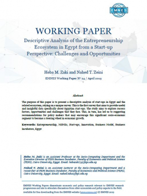 EMNES Working Paper 24 – Descriptive analysis of the entrepreneurship ecosystem in Egypt from a start-up perspective: challenges and opportunities
