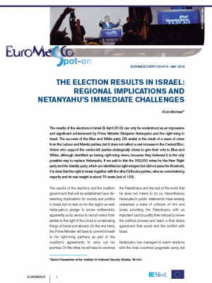 Euromesco Spot-on 10: The Election Results in Israel: Regional Implications and Netanyahu's Immediate Challenges
