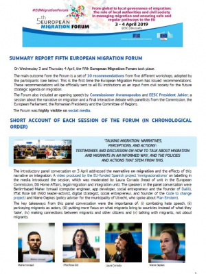 Fifth European Migration Forum - Summary report