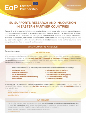 EU Supports Research and Innovation in Eastern Partner Countries