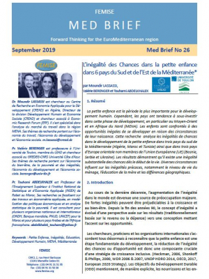 "FEMISE Med BRIEF 26: "" Unequal Opportunities in Early Childhood in 6 Southern and Eastern Mediterranean countries"""