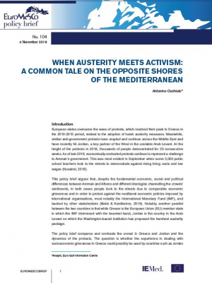 Euromesco Policy Brief 104: When Austerity Meets Activism: A Common Tale on the Opposite Shores of the Mediterranean