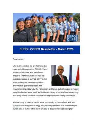 EUPOL COPPS newsletter – March 2020