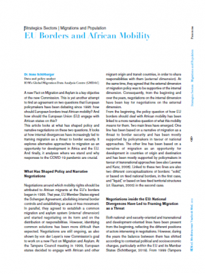 IEMed article : EU borders and African mobility