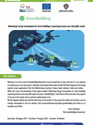 Greenbuilding newsletter n°1