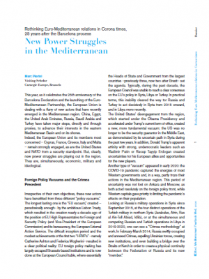 IEMed article - New Power Struggles in the Mediterranean