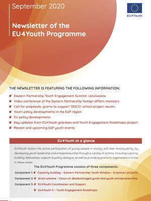 Newsletter of the EU4Youth Programme - September 2020