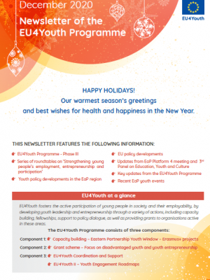 Newsletter of the EU4Youth Programme: December 2020