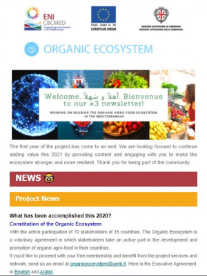 ORGANIC ECOSYSTEM newsletter – Issue 3 - January 2021