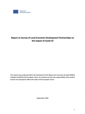 Report on Survey of Local Economic Development Partnerships on the Impact of COVID-19