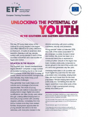 ETF study : unlocking the potential of youth in the Southern and Eastern Mediterranean