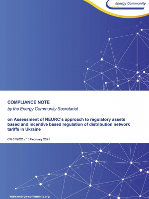 Assessment of NEURC's approach to regulatory assets based and incentive based regulation of distribution network tariffs in Ukraine