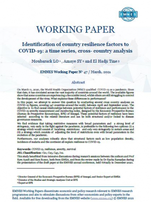 EMNES Working Paper 47 – Identification of country resilience factors to COVID-19: a time series, cross-country analysis