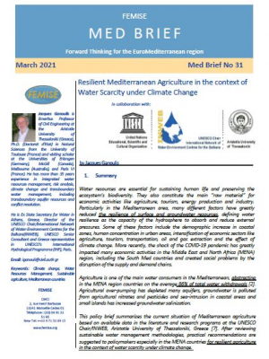 FEMISE MedBRIEF 31: Resilient Mediterranean agriculture in the context of water scarcity