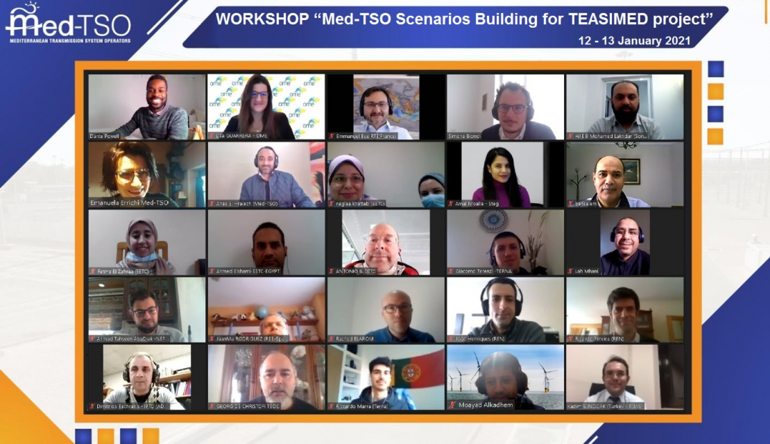 Energy: Med-TSO held workshop on scenarios building for TEASIMED project