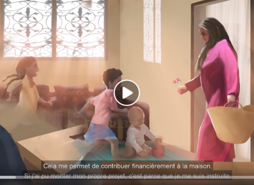 A video to encourage literacy in Morocco