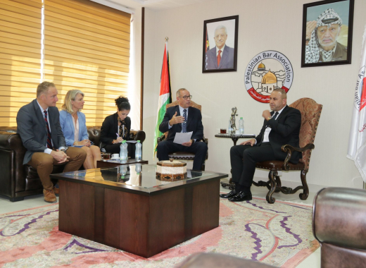 EU Police Mission, Palestinian Bar Association discuss ways to support lawyers