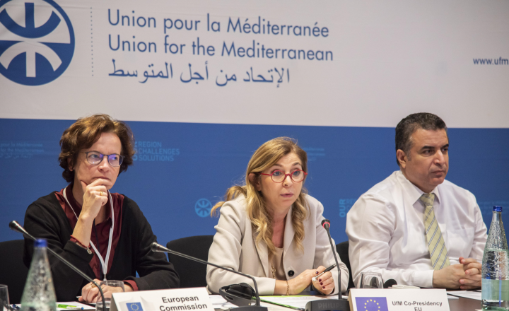 The Union for the Mediterranean labels the thematic clusters of the ENI Cross Border Cooperation Med Programme