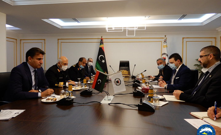 EU Ambassador and IRINI Operation Admiral meet with Libyan ministers and officials