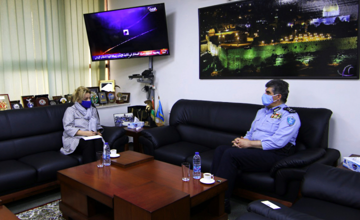 Head of EU Police Mission underlines commitment to police reform at meeting with Chief of Palestinian Police