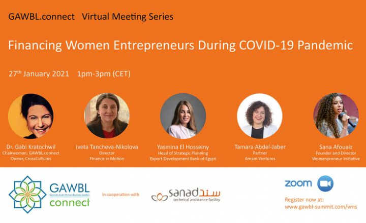 EU-funded SANAD to sponsor virtual meeting series on COVID-19 impact on women entrepreneurs