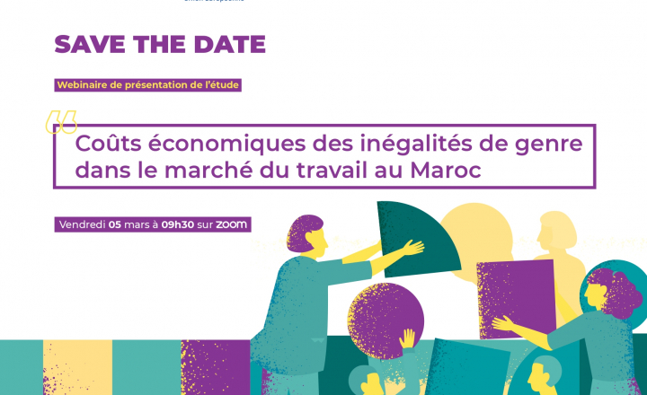 Upcoming webinar on economic costs of gender inequalities in the labour market in Morocco